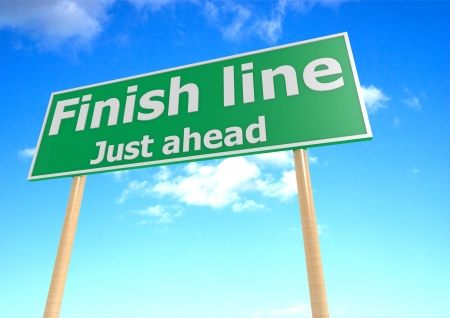 to finish: Finish Line Road Sign