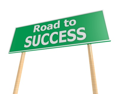 Success road sign photo