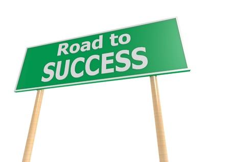 show plant: Success road sign