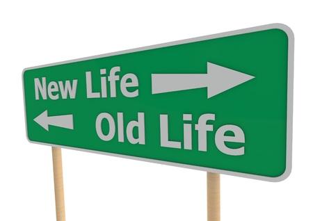 divorcio: La vida nueva o vieja Foto de archivo
