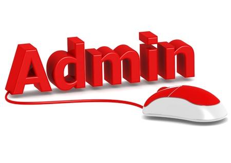 Administration et souris d'ordinateur Banque d'images