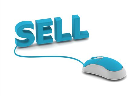 e auction: Selling online Stock Photo