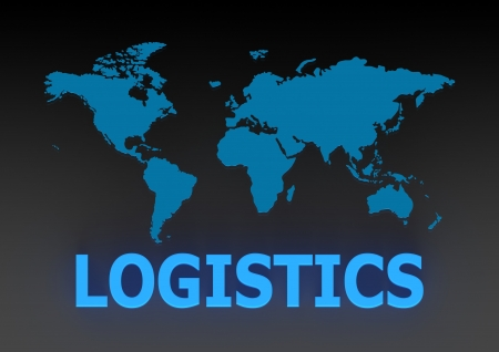 Global Logistics Management Processes Stock Photo
