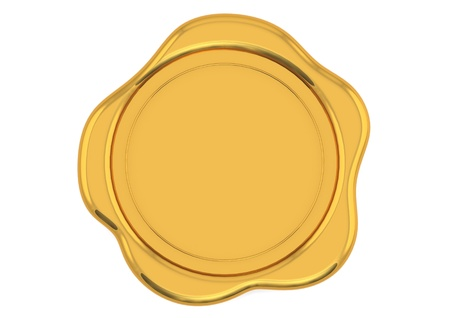 seal wax: Gold wax seal