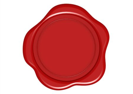 wax seal: Red Wax Seal Stock Photo