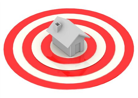 One House in Bulls-Eye Target  photo