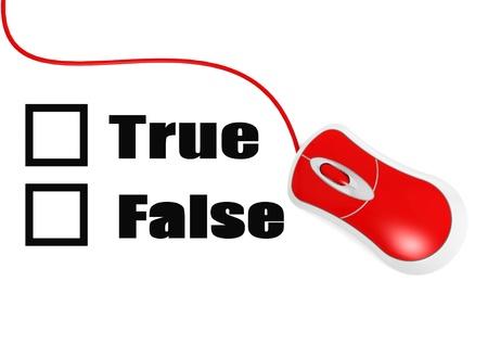 falso: Verdadero Falso Foto de archivo