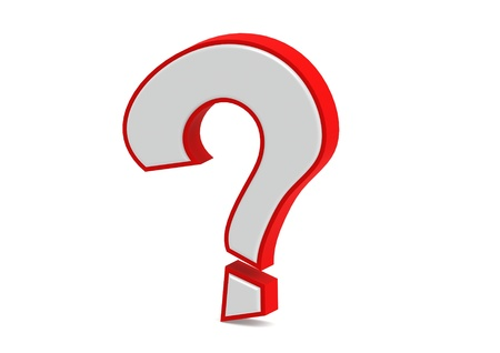 Red 3d question mark Stock Photo - 14991647