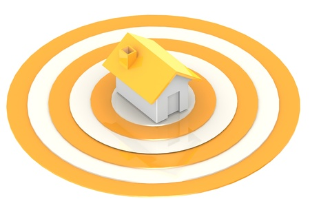 housing search: A house in the center of a target