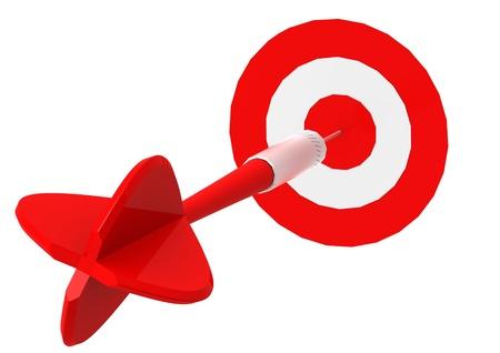 Dart Hitting Target  photo