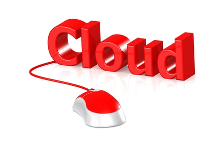 Mouse and Cloud Stock Photo - 15312535