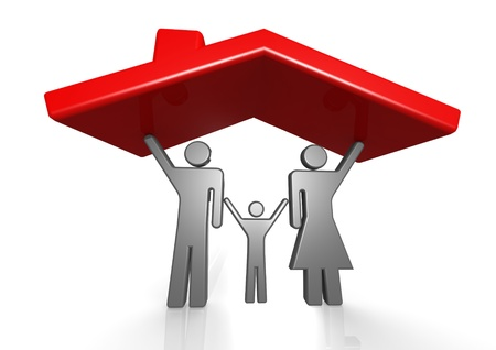 Roof and family Stock Photo - 15334727