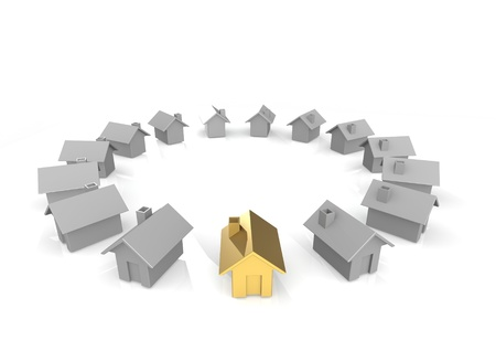 Gold house Stock Photo - 15595295