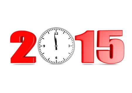12 o'clock: 2015 new year Stock Photo