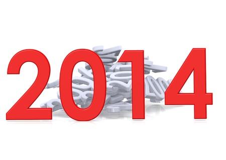 Celebraci�n del A�o Nuevo 2014 Foto de archivo - 15683599