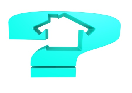 House and Question concept Stock Photo - 15772344