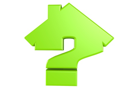 House and Question concept   Stock Photo - 15772343