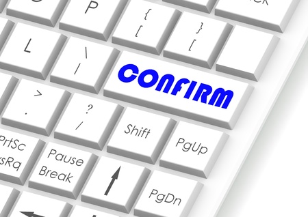 Confirm and keyboard Stock Photo - 15934738