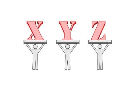 xyz: Alphabet XYZ Stock Photo