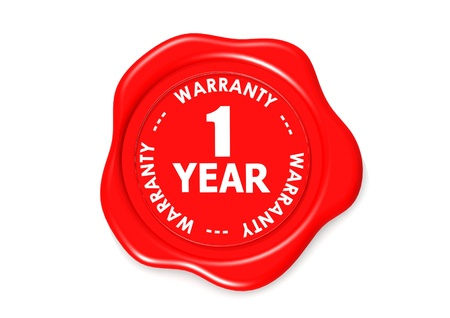 one year warranty seal  Stock Photo - 16001999