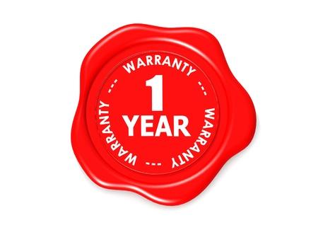 one year warranty seal Stock Photo - 16001999