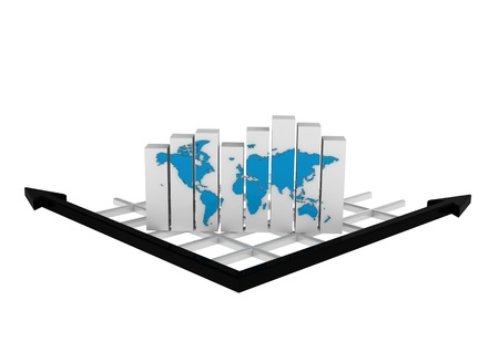 Global Business Graph Stock Photo - 16001992