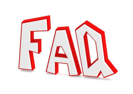 faq's: FAQ Stock Photo