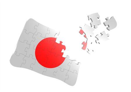 japan flag puzzle photo
