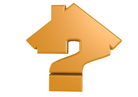 House and Question concept Stock Photo - 16001985