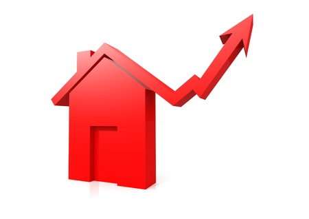 housing problems: House market up Stock Photo