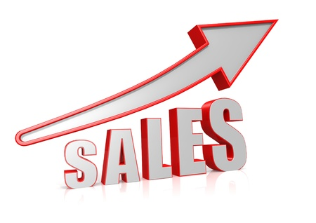 Sales Growth with arrow symbol Stock Photo - 16080723