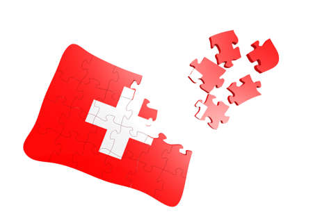 Swiss Flag Puzzle Stock Photo - 16080719