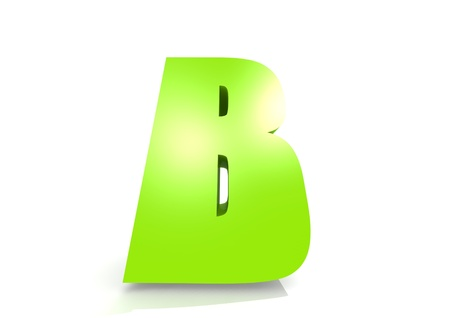 jardin de infantes: Verde letra B