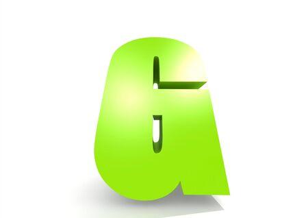 jardin de infantes: Letra G verde