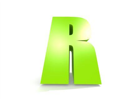 kinder garden: Green letter R