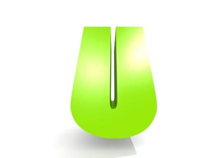 kinder garden: Green letter U