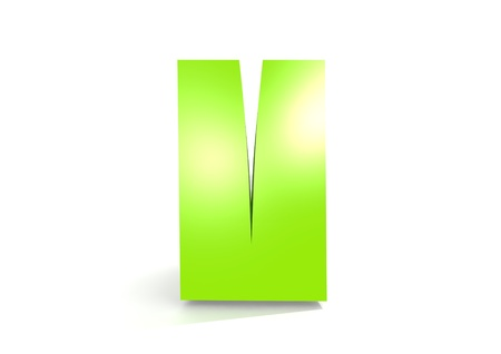 kinder garden: Green letter V Stock Photo