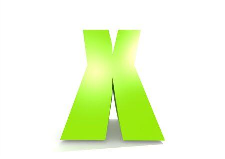 kinder garden: Green letter X Stock Photo