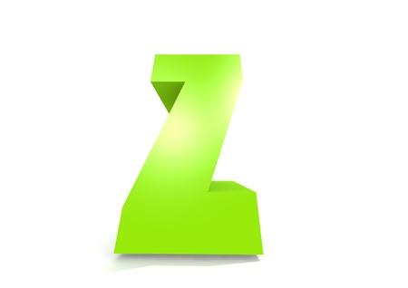 jardin de infantes: Verde letra Z Foto de archivo