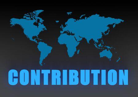 contribution: World contribution Stock Photo