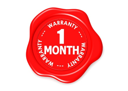 One month warranty seal Stock Photo - 16135945