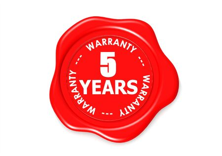 Five years warranty seal Stock Photo - 16135944
