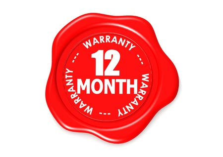validez: Doce meses sello de garant�a Foto de archivo