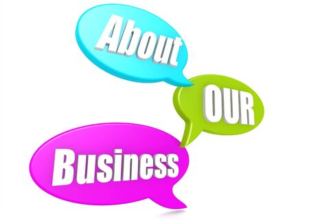 our: About our business Stock Photo