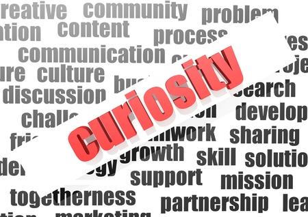 guerilla warfare: Curiosity concept Stock Photo