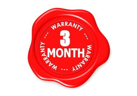 Three month warranty seal Stock Photo - 16345567