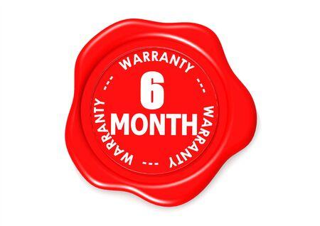six months: Six month warranty seal