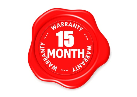 Fifteen month warranty seal Stock Photo - 16345563