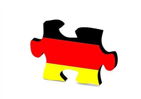 germany flag: Germania Bandiera Puzzle