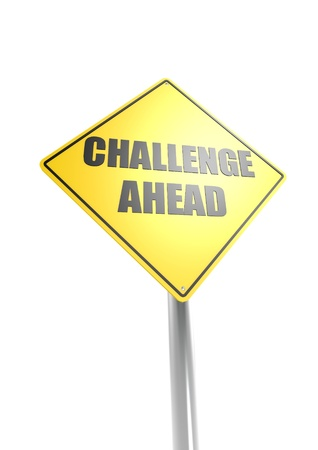 Challenge ahead sign Stock Photo - 16613154